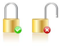 Lock Icons EPS royalty free illustration