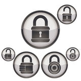 Lock icons set. Stock Photos