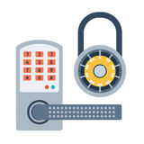 Lock icons set vector. Royalty Free Stock Photography