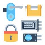 Lock icons set vector. Stock Photos
