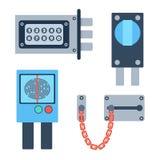 Lock icons set vector. Stock Photography