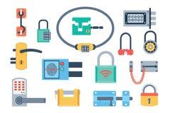 Lock icons set vector. Stock Image