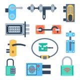 Lock icons set vector. Royalty Free Stock Image