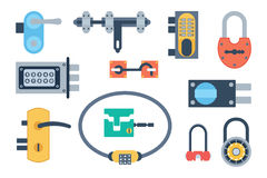 Lock icons set vector. Stock Images