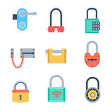 Lock icons set vector. Royalty Free Stock Photo