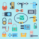 Lock icons set vector. Royalty Free Stock Photos