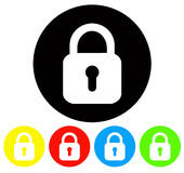 Lock icons. Vector file of lock icons Stock Image