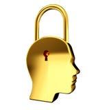Lock inside head Royalty Free Stock Image