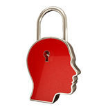 Lock inside head Stock Image