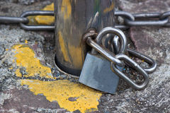 Lock and iron chains Stock Photography