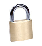 Lock isolated. On white [clipping path royalty free stock photo