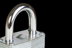 Lock Isolated on black Stock Images