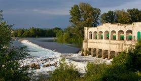 Lock on Isonzo River near Sagrado Royalty Free Stock Photography