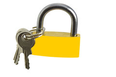 Lock and keays. Om the white background Royalty Free Stock Photos