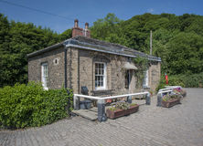 Lock keepers house Royalty Free Stock Image