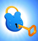 Lock and key. Vector illustration, AI file included Royalty Free Stock Photos