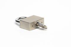 Lock with key. Stock Photo