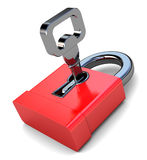 Lock with key Royalty Free Stock Photo