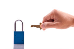Lock and Key. Security Concept Stock Images