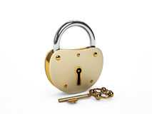 Lock with key Royalty Free Stock Photography