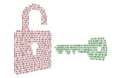The lock and key Stock Image