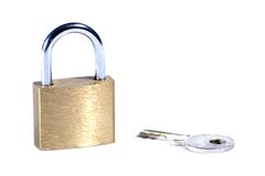 Lock and key. Over white Royalty Free Stock Image