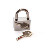 The lock and key. Lock and key which are represented on a white background Royalty Free Stock Image