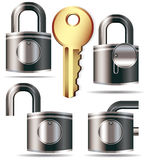 Lock and key. A set of Lock and key - vector illustration Stock Photography