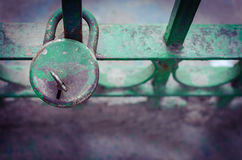 Lock with the key on it Stock Image