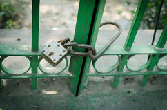 Lock with the key on it Royalty Free Stock Image