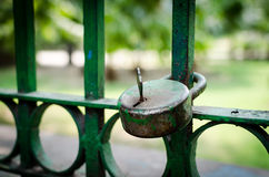 Lock with the key on it Royalty Free Stock Photo