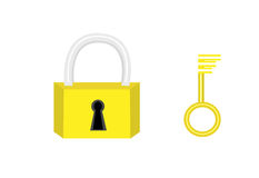 Lock and Key icon Royalty Free Stock Photography