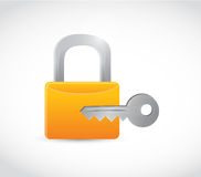 Lock and key illustration design Royalty Free Stock Photography