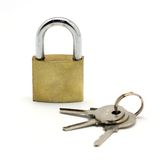 Lock and key isolated on white Royalty Free Stock Photos