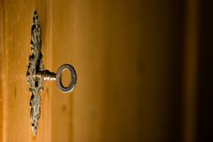 Lock and Key series. An antique lock and key Royalty Free Stock Photo