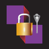 Lock and key Royalty Free Stock Image