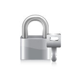 Lock with key. Stock Images