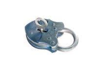 Lock key vintage open metal isolated Stock Photo