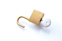 Lock and key. On white background Stock Image