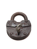Lock and key on a white background (isolated). Royalty Free Stock Photos
