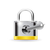 Lock with key. Royalty Free Stock Image