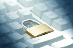 Lock and keyboard Stock Photography