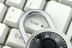 Lock and keyboard Royalty Free Stock Images