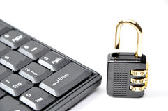 Lock on the keyboard Stock Images