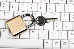 Lock on keyboard Stock Image