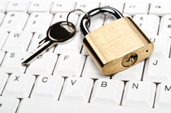 Lock on keyboard Stock Images