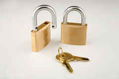 Lock and keys Stock Images