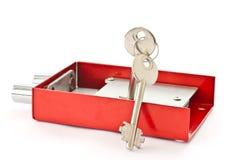 Lock with keys Stock Photos