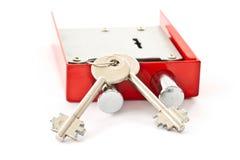 Lock with keys Stock Photo