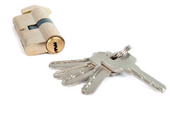 Lock with the keys Royalty Free Stock Images